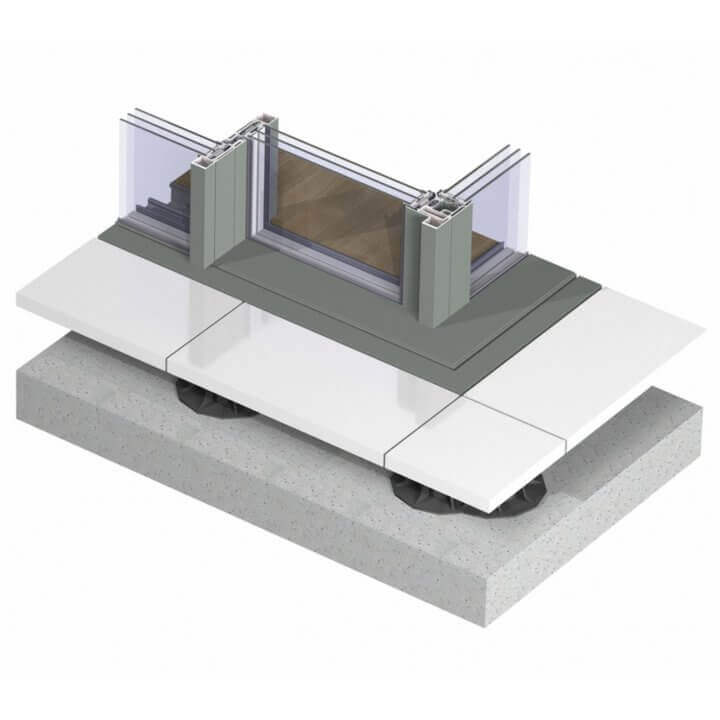 hi-finity_with gutter_triple glazing_corner solution_3d_topview